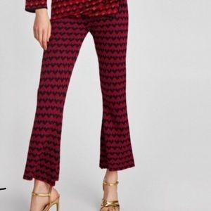 NWT Zara Knit Bell Bottom Harley Quinn Lounge